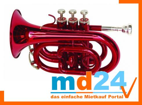 DIMAVERY TP-300 Bb Pocket Trompete, rot