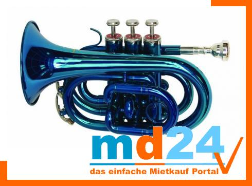DIMAVERY TP-300 Bb Pocket Trompete, blau