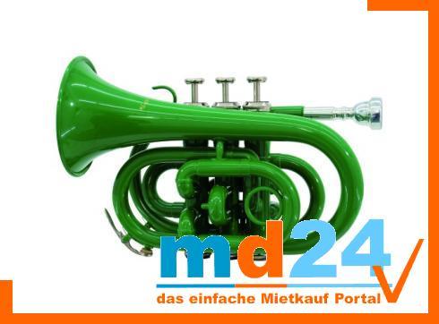 DIMAVERY TP-300 Bb Pocket Trompete, grün