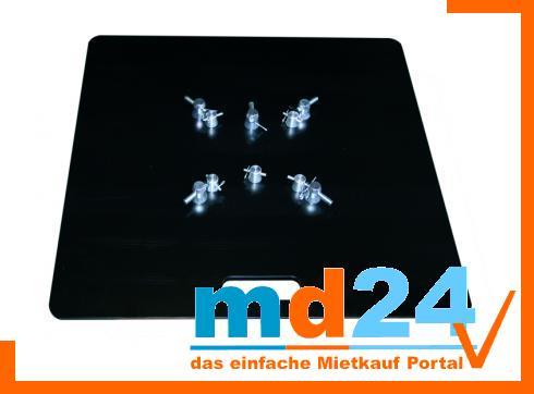 Bodenplatte multi stahl F23/24/33/34 80x80cm