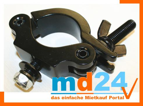 Halfcoupler 48-51mm mit M10 small Black