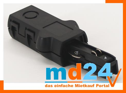 1-phasen Einspeiser, schwarz, 230V, L 65 mm