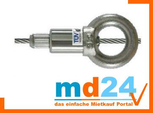 Drahtseilhalter M12 mit Ringöse
