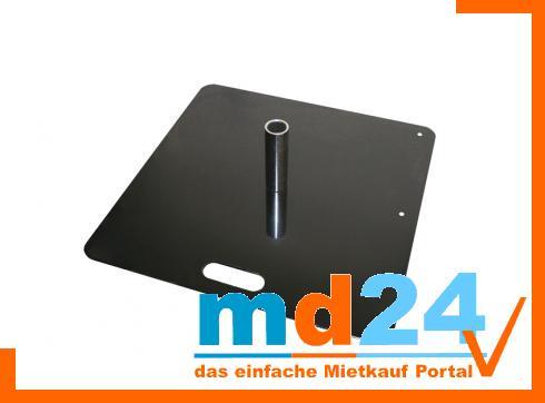 Bodenplatte Stahl schwarz 450x450x5mm ca 14Kg