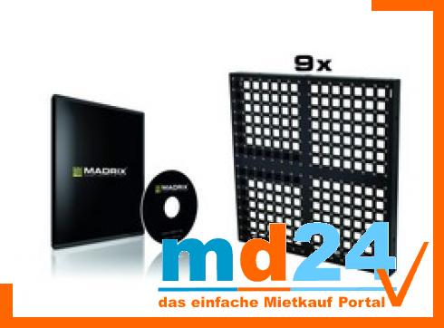 Effektwand-Set: 9x Pixel Mesh+MADRIX DVI